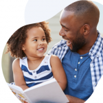happy parents with life insurance