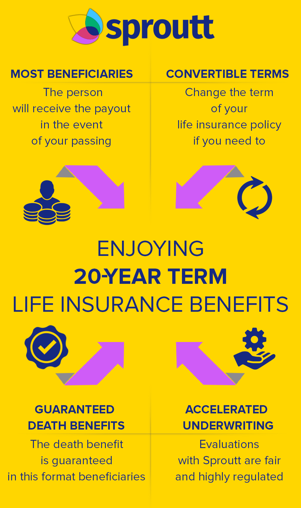 Infographic enjoying 20 year term life insurance benefits