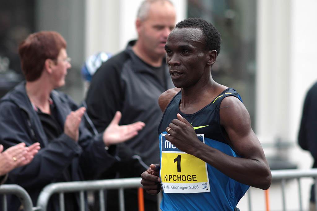 African man running a marathon